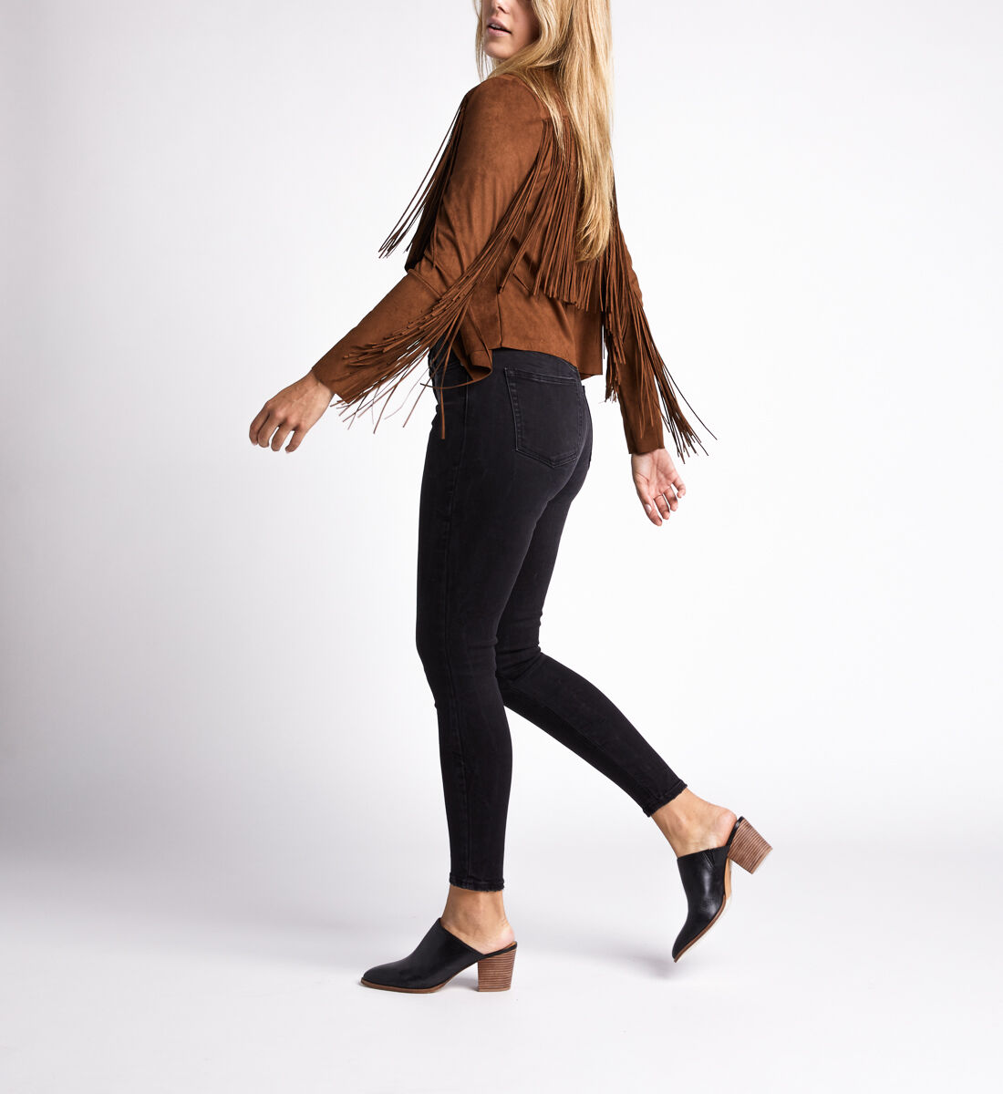 Most Wanted Mid Rise Skinny Leg Jeans,Black Side