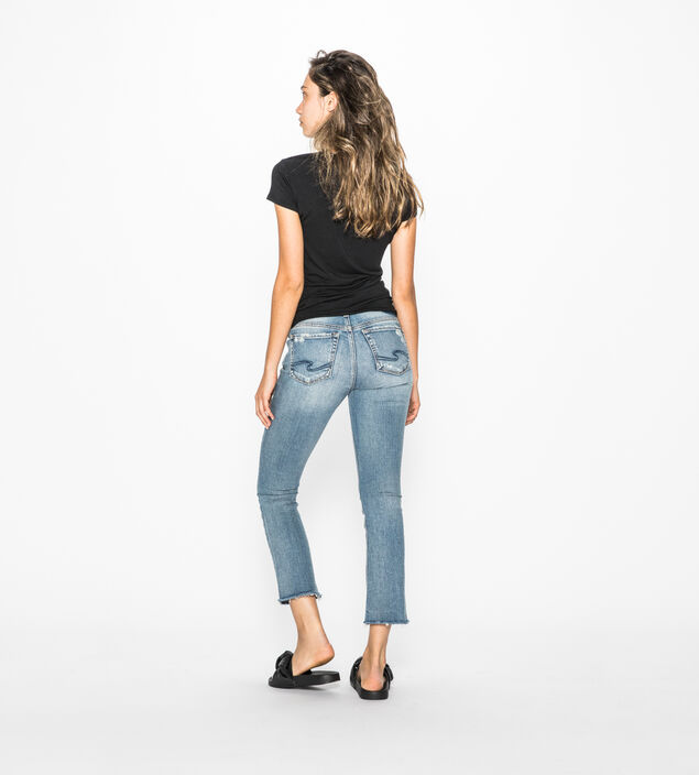 Aiko Boot Crop Medium Wash, , hi-res