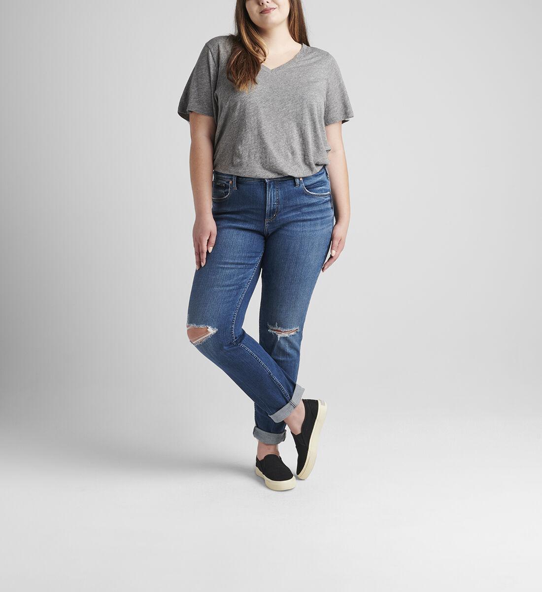 Beau Mid Rise Slim Leg Jeans Plus Size Front
