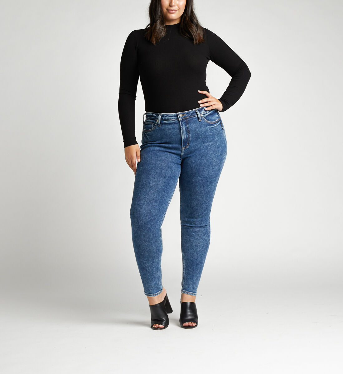 High Note High Rise Skinny Plus Size Jeans Alt Image 1