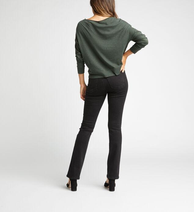 Suki Mid Rise Slim Bootcut Jeans, Black, hi-res