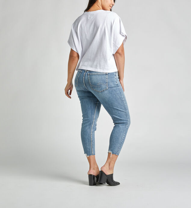 Calley Super-High Rise Curvy Skinny Crop Jeans, , hi-res