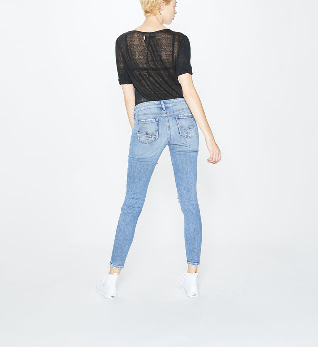 Elyse Super Skinny Mid Rise Light Wash, , hi-res