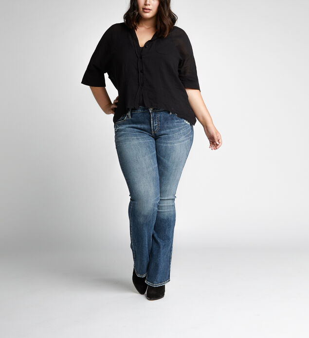 5a894121552 ... Elyse Mid Rise Slim Bootcut Jeans Plus Size
