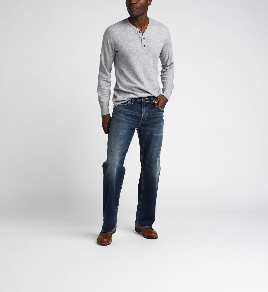 Gordie Loose Fit Straight Jeans,Indigo Front