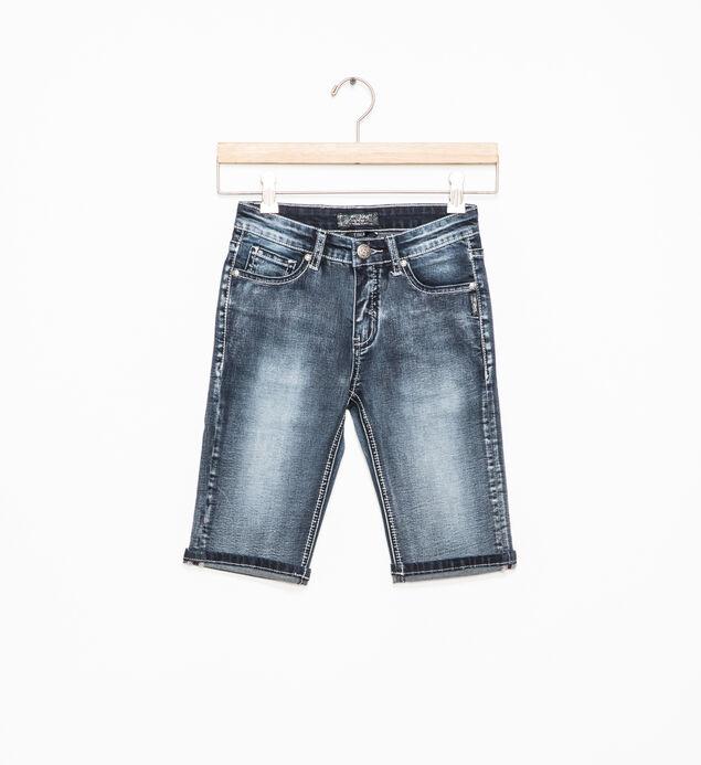Tina Dark-Wash Bermuda Shorts (4-6x)