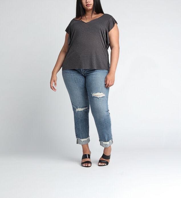 Elyse Mid Rise Ankle Slim Leg JeansPlus Size