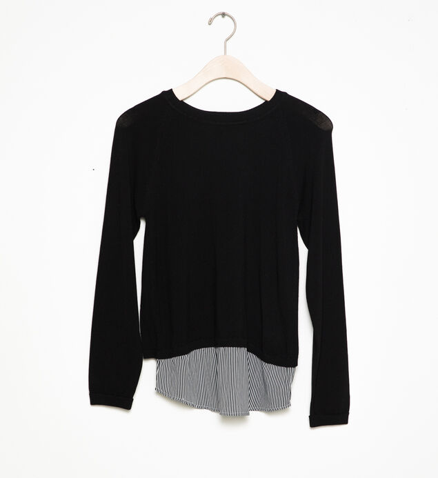 Long-Sleeve Layered Sweater (7-16)