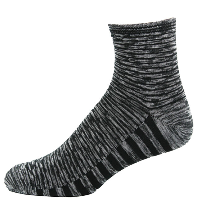 Mixed Stripe Quarter-Length Men's Socks