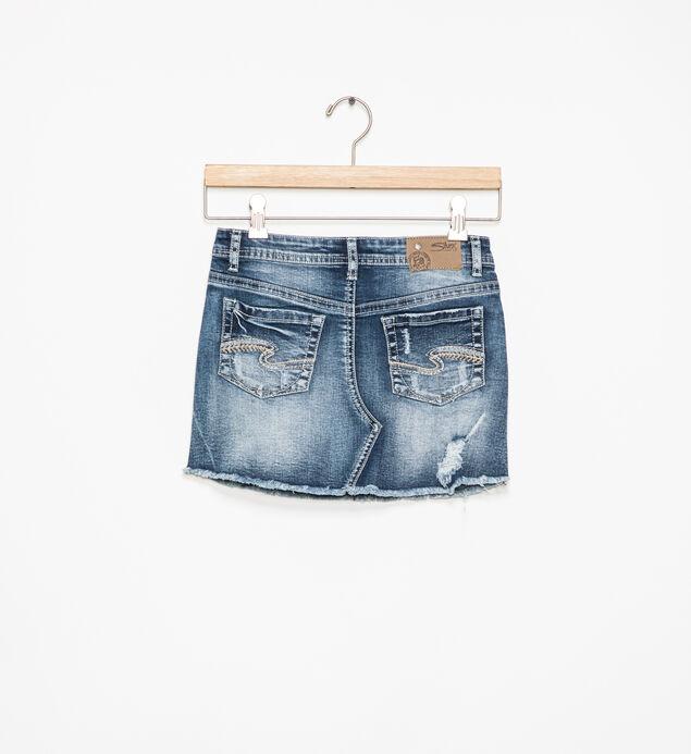 Candice Distressed Denim Skirt (7-16), , hi-res