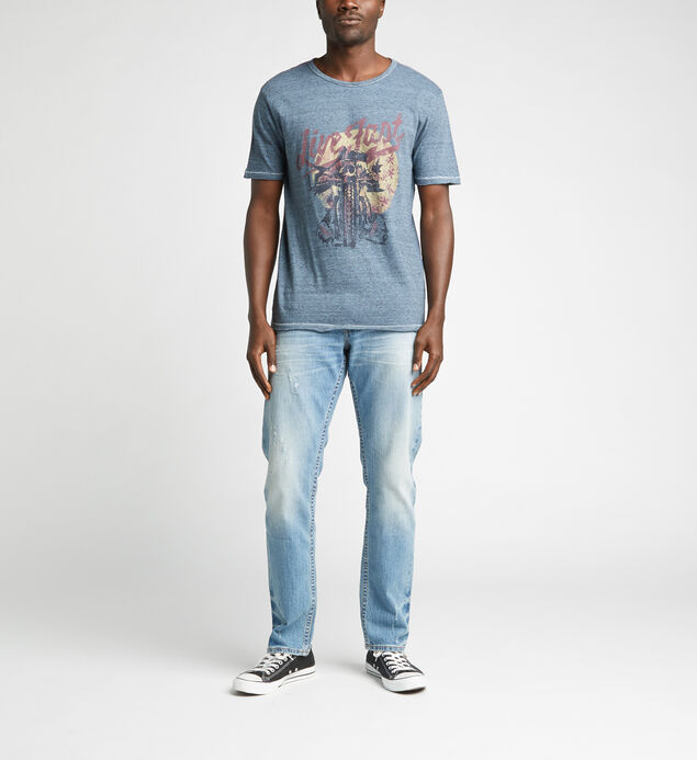 Dirk Short-Sleeve Graphic Tee, Blue, hi-res