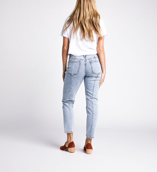 Frisco Tapered High Rise Tapered Leg Jeans, Indigo, hi-res