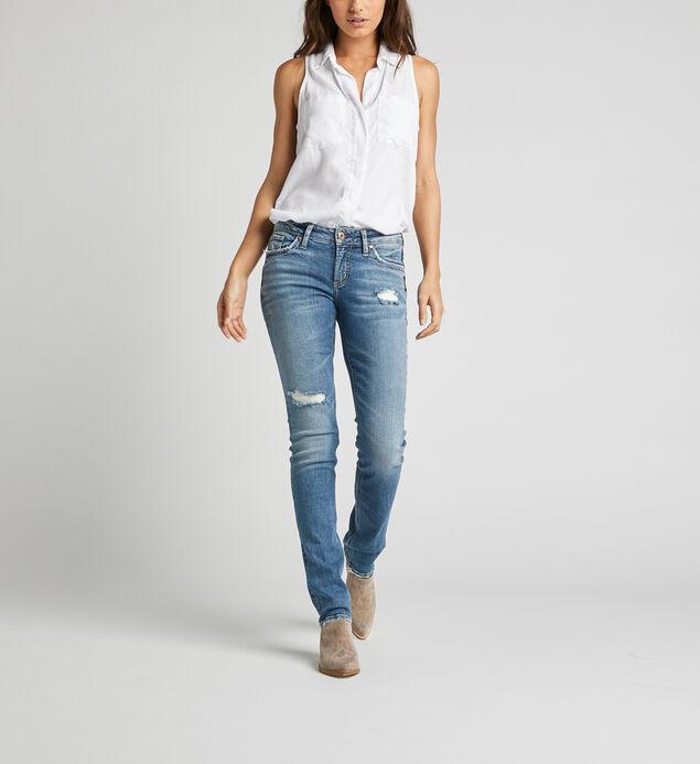 Suki Mid Rise Straight Leg Jeans