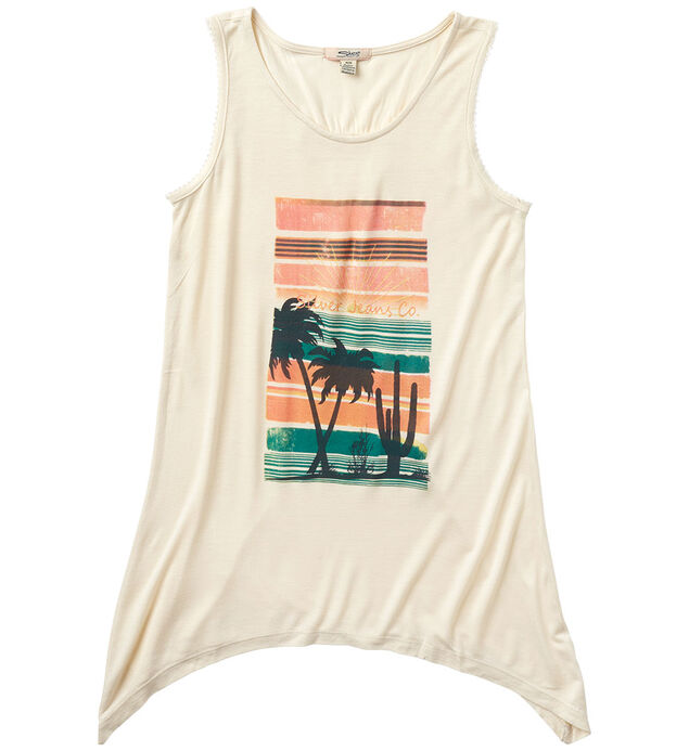 Asymmetric Graphic Tank Top (7-16)