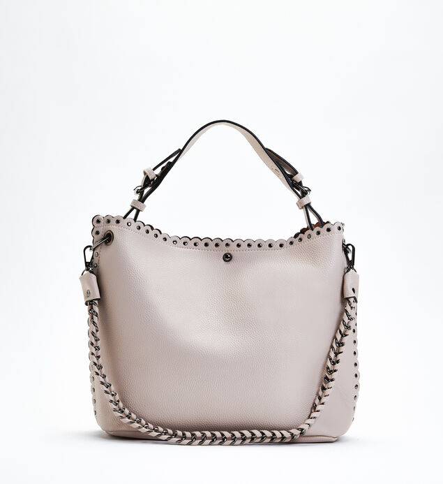Studded Shoulder Bag with Pouch