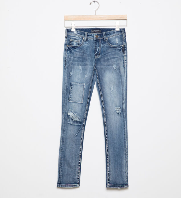 Sasha Distressed Skinny Jeans in  Light Wash (4-7)
