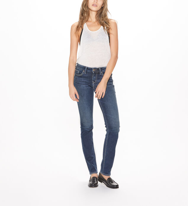 Suki Straight Mid Rise Dark Wash