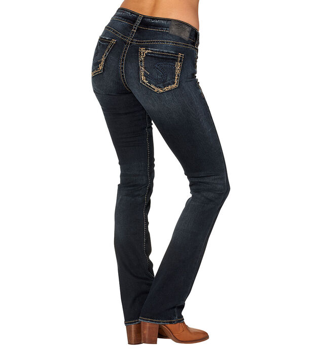 Elyse Mid Slim Boot Dark Wash, , hi-res