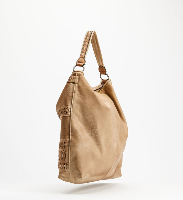 Top-Zip Braided Hobo