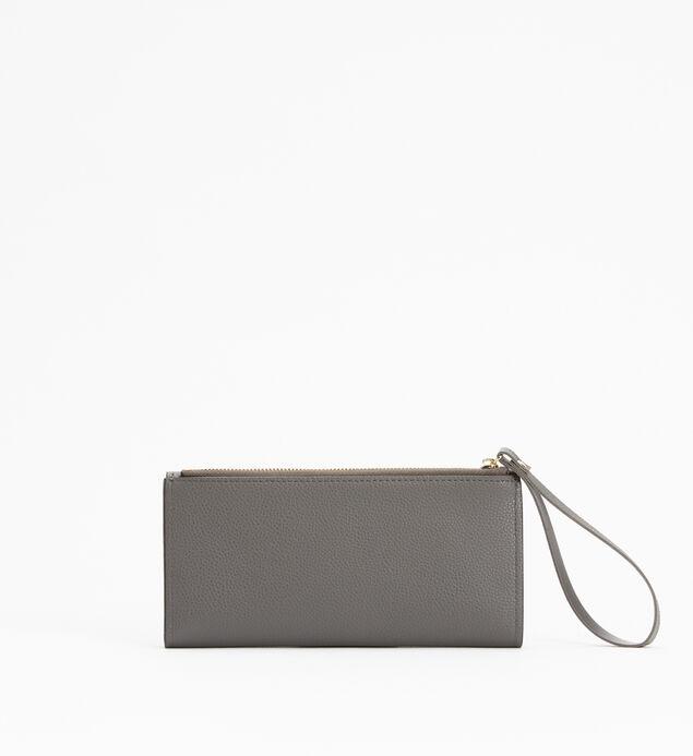 Medium Flap Wristlet Wallet, Grey, hi-res