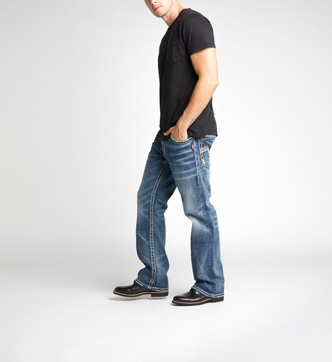 Zac Relaxed Fit Straight Leg Jeans Side