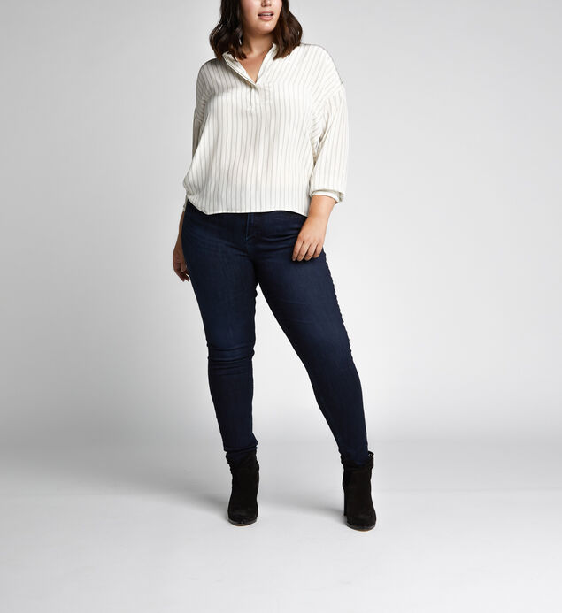 Mazy High Rise Skinny Leg Jeans Plus Size