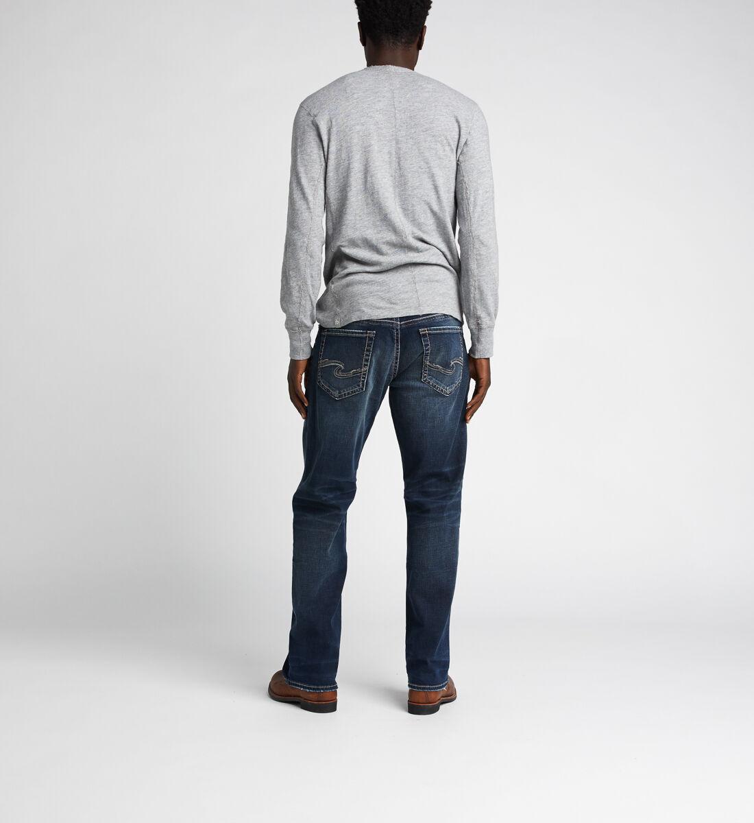 Gordie Loose Fit Straight Jeans,Indigo Back