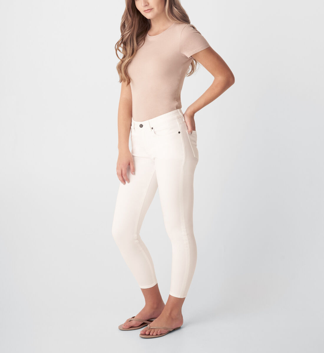 Most Wanted Mid Rise Skinny Jeans,White Side