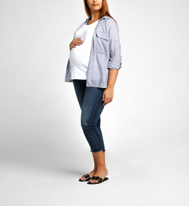 Avery Skinny Crop Dark Wash - MATERNITY, , hi-res