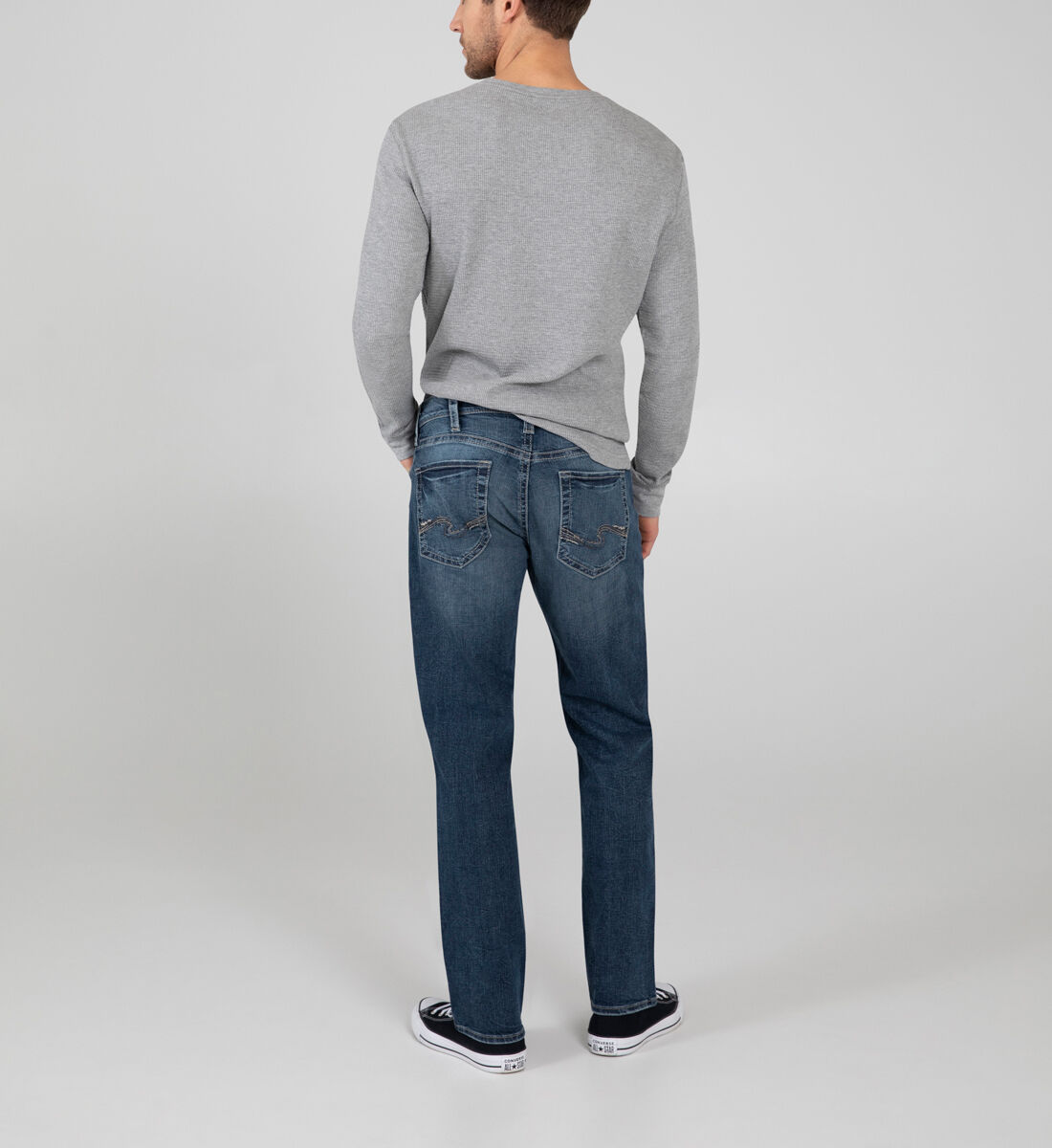 Grayson Easy Fit Straight Leg Jeans Back