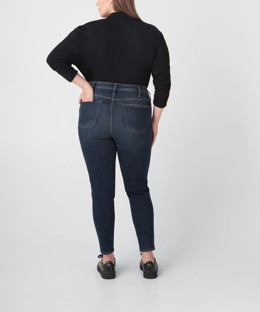 Avery High Rise Skinny Jeans Plus Size Back