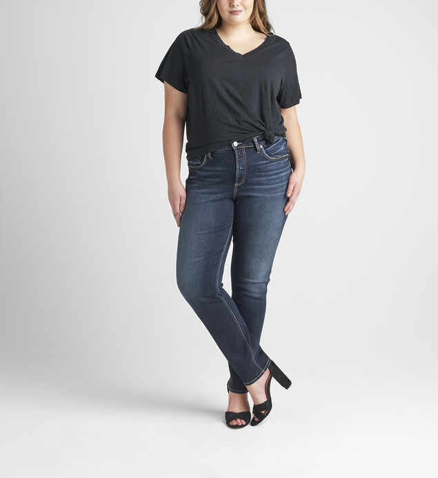 Avery High Rise Straight Leg Jeans Plus Size