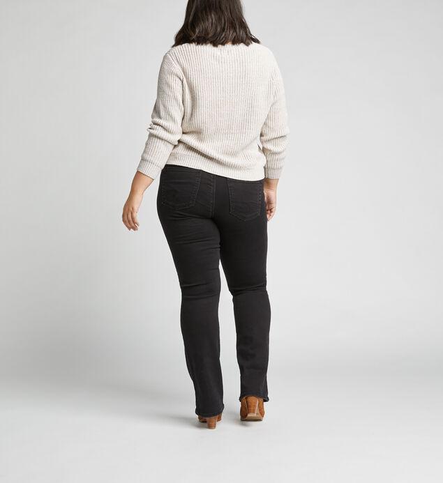 Suki Mid Rise Slim Bootcut Jeans Plus Size, Black, hi-res
