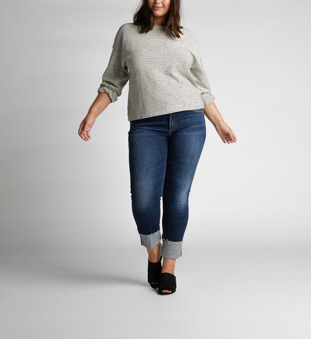 Elyse Mid-Rise Curvy Relaxed Slim-Leg Jeans