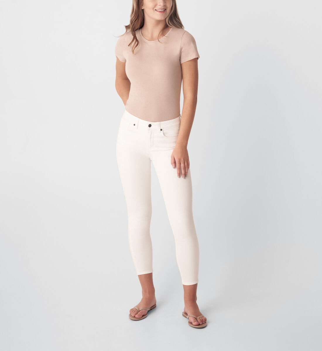 Most Wanted Mid Rise Skinny Jeans,White Front