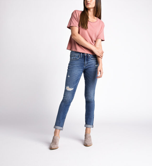 Not Your Boyfriends Jeans Mid Rise Slim Leg Jeans