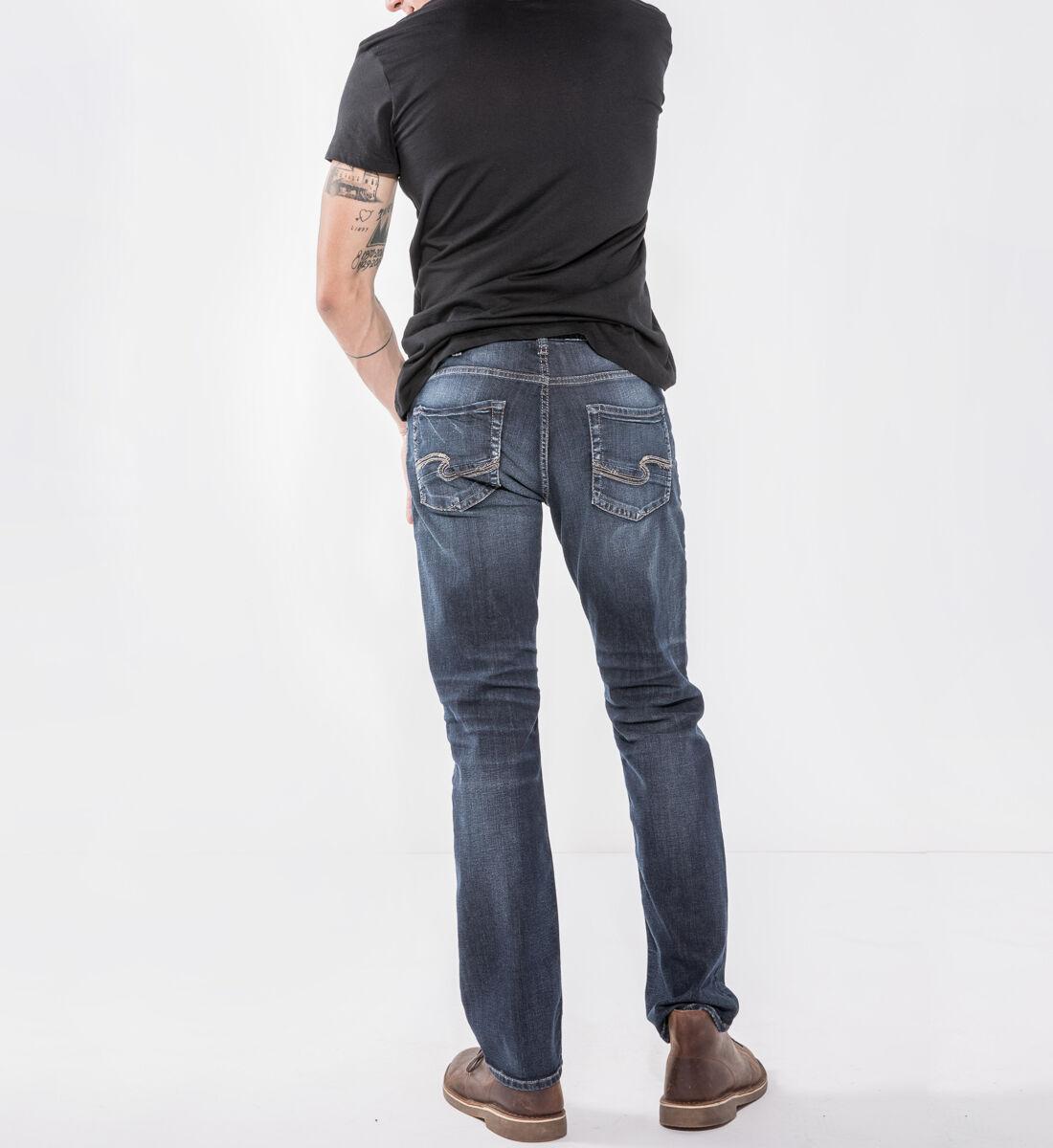 Allan Classic Fit Straight Leg Jeans Back