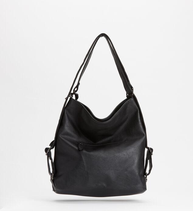 Double-Zip Hobo Bag, Black, hi-res