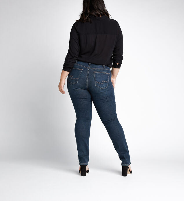 Avery High Rise Straight Leg Jeans Plus Size, , hi-res