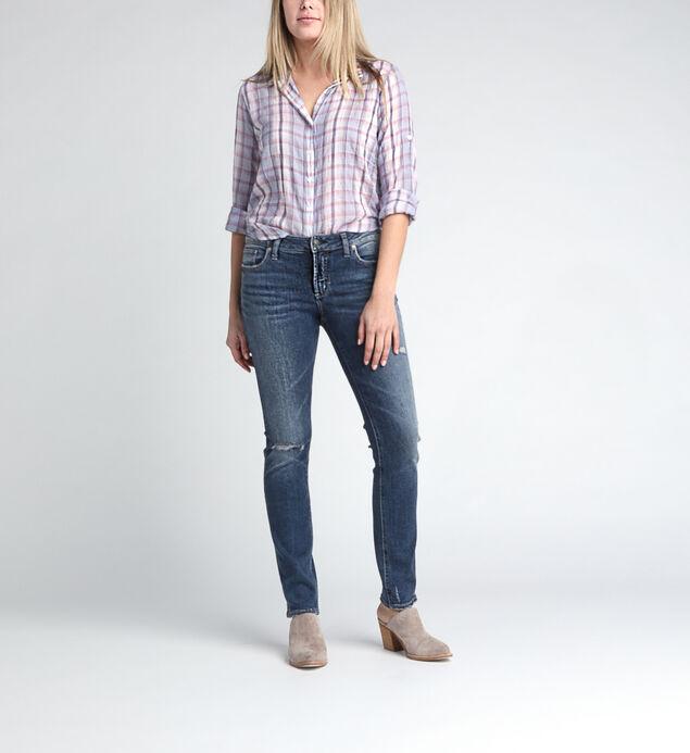 Elyse Mid Rise Straight Leg Jeans
