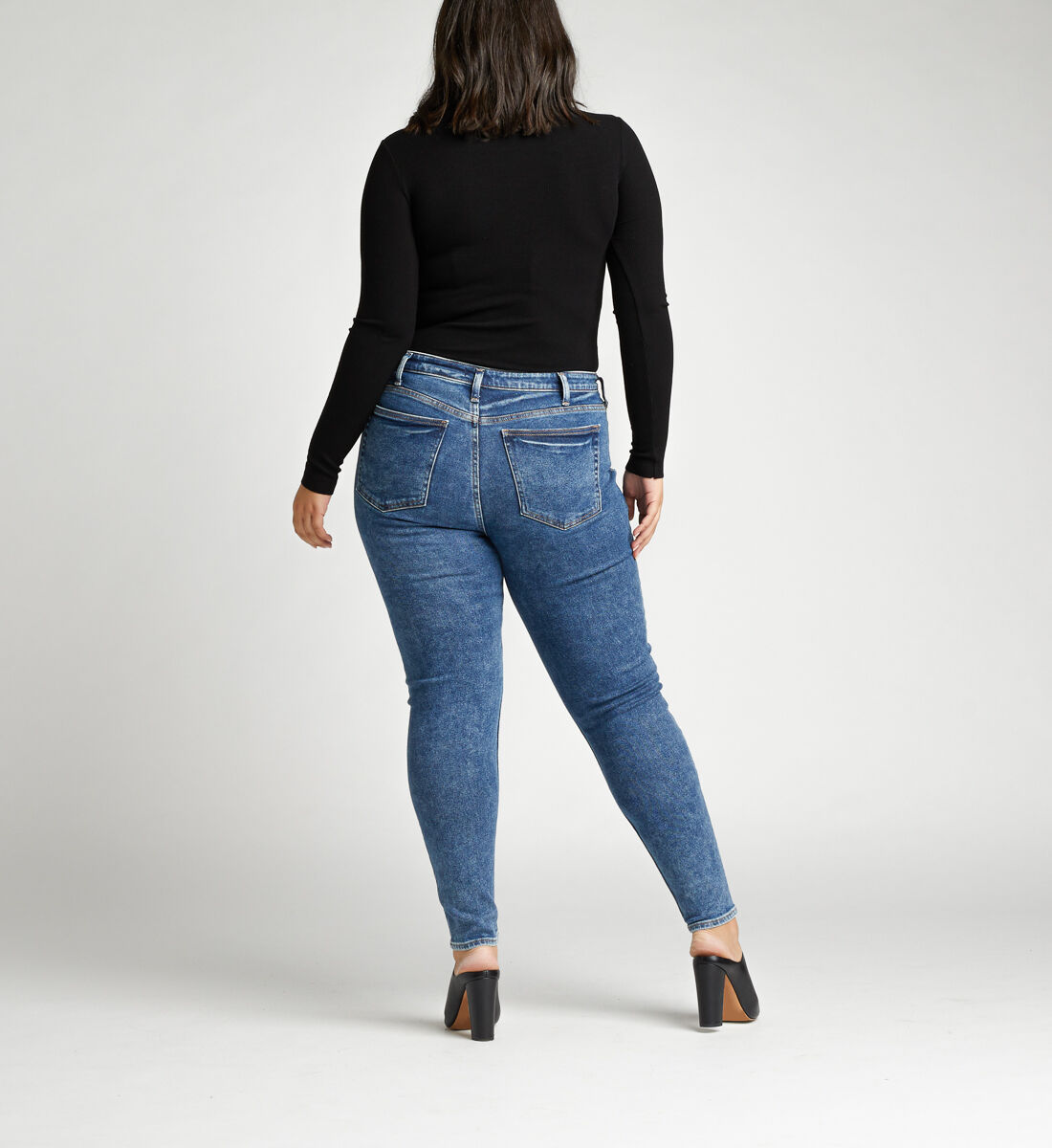 High Note High Rise Skinny Plus Size Jeans Back