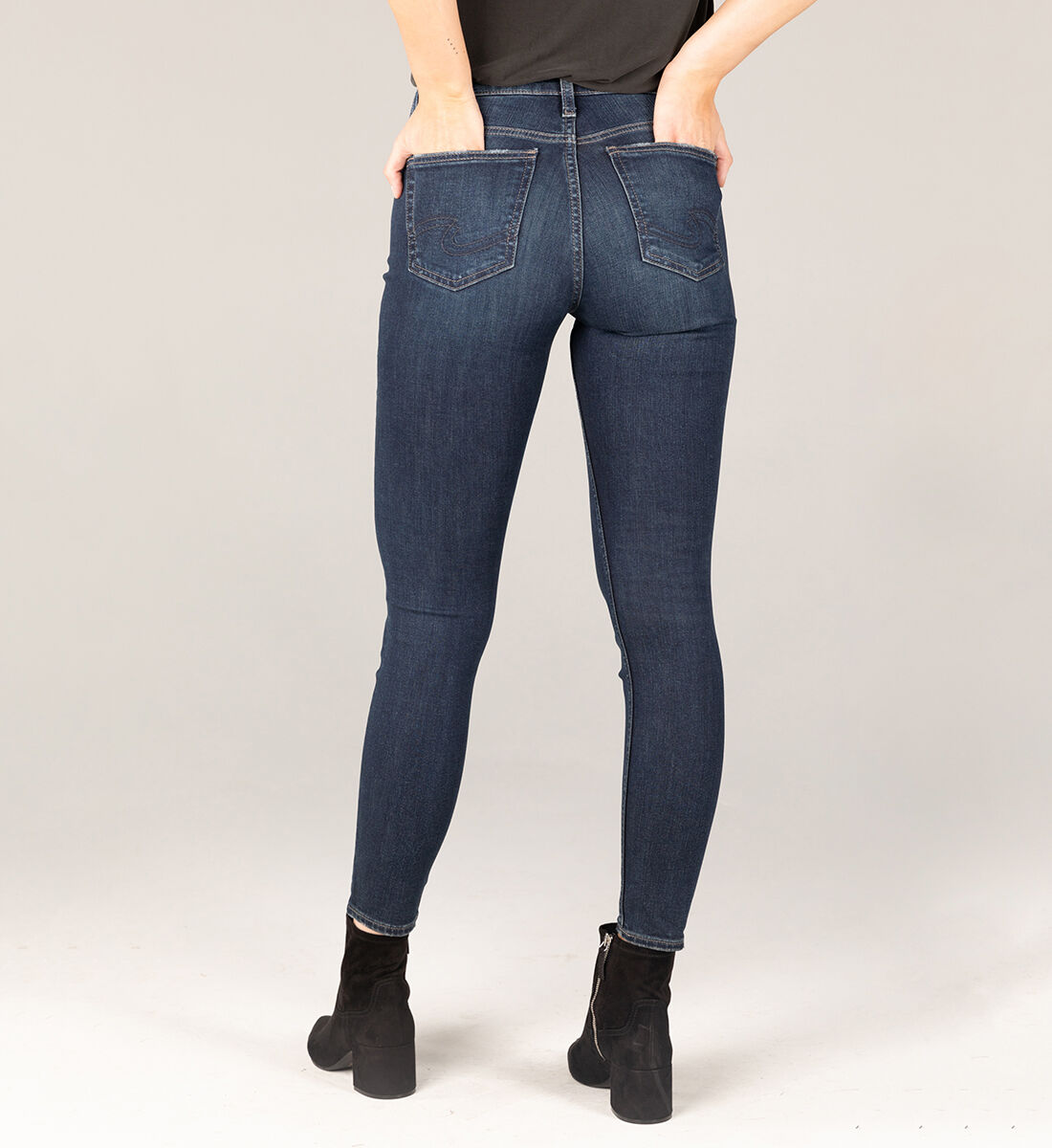 Avery High Rise Skinny Jeans Back