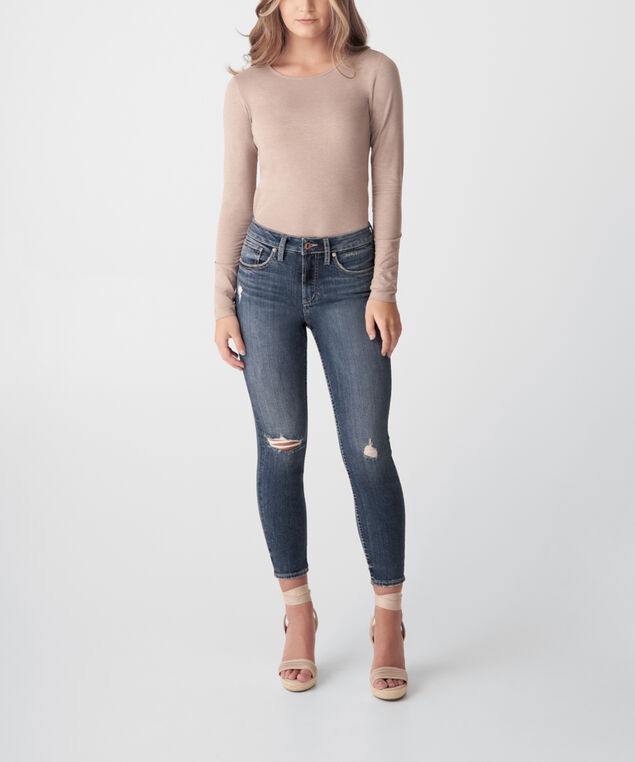 Avery High Rise Skinny Crop Jeans