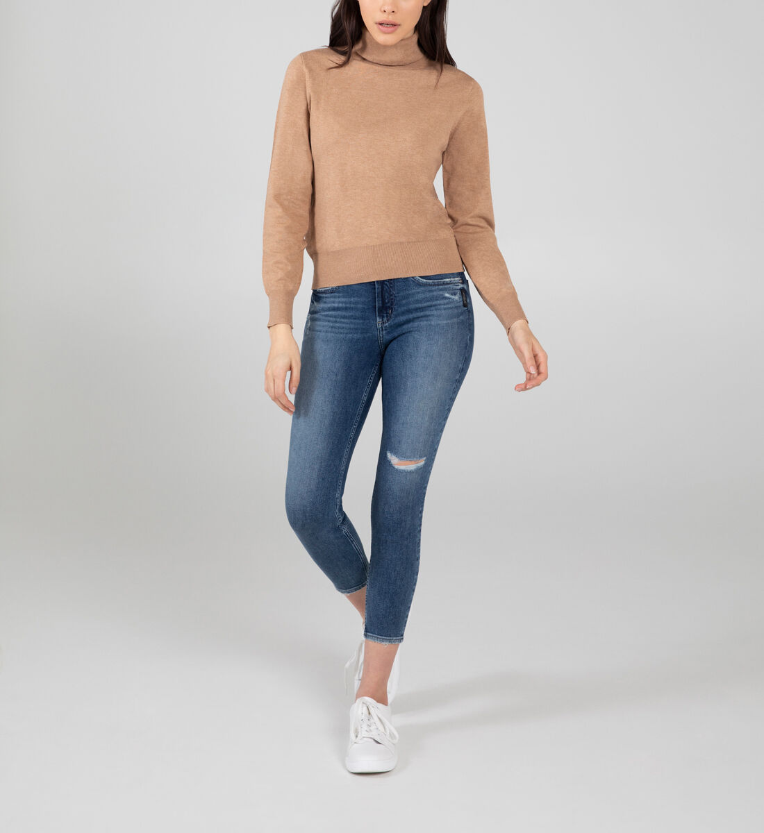 Most Wanted Mid Rise Skinny Jeans Front