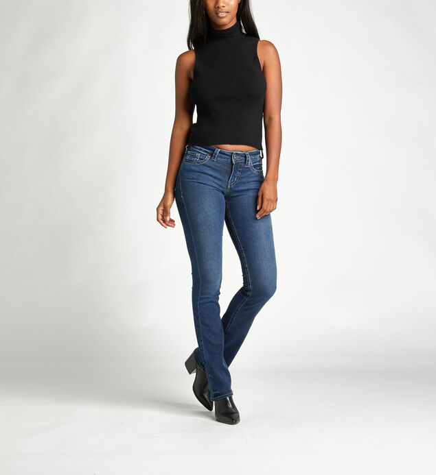 Aiko Mid Rise Slim Bootcut Jeans