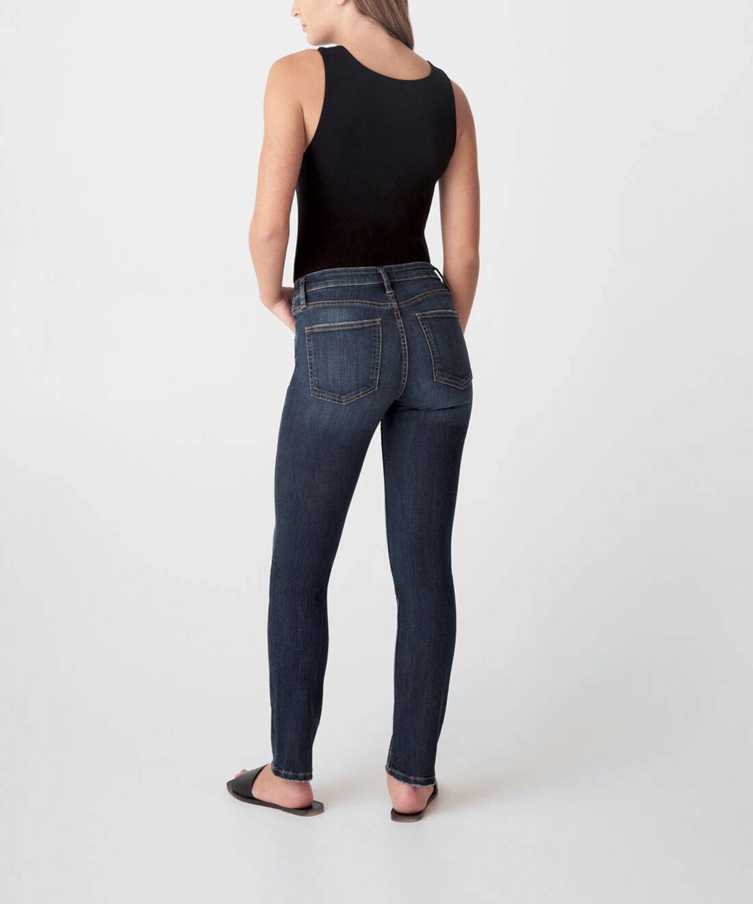 Most Wanted Mid Rise Straight Leg Jeans Back