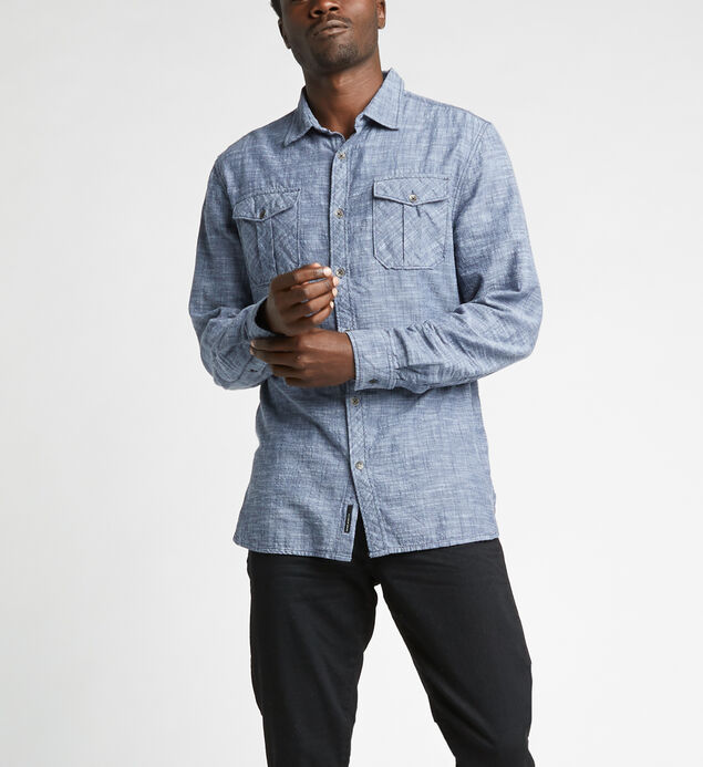 Caster Slub Chambray Button-Down Shirt