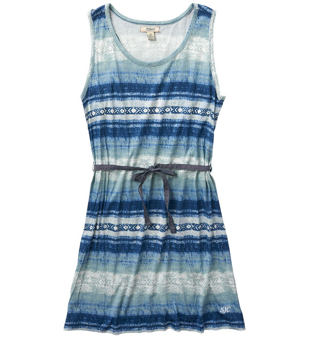 Sleeveless Tribal-Print Dress (7-16)