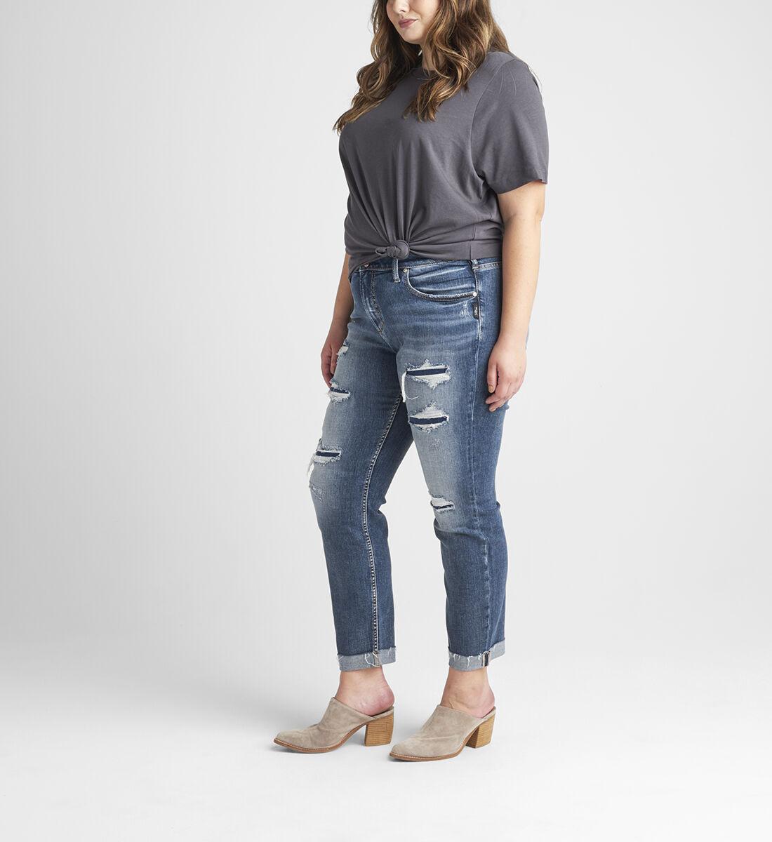 Beau Mid Rise Slim Leg Jeans Plus Size Side