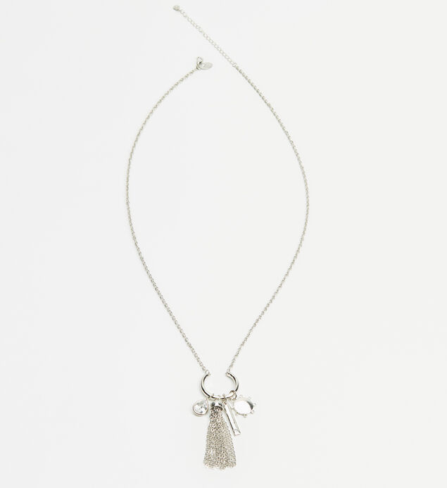 Long Cluster Charm Necklace